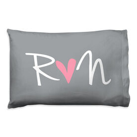 Running Pillow Case - Run Heart