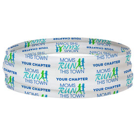 Running Multifunctional Headwear - Moms Run This Town Logo with Chapter Name Pattern