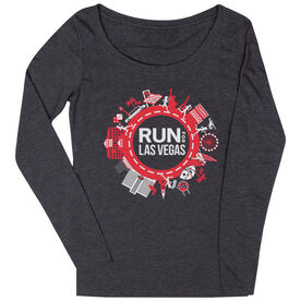 Women's Runner Scoop Neck Long Sleeve Tee - Run for Las Vegas