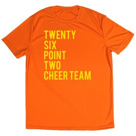 Men's Running Short Sleeve Tech Tee Twenty Six Point Two Cheer Team (Orange Tee)