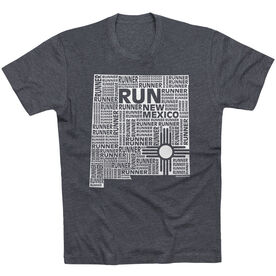 Running Short Sleeve T-Shirt - New Mexico State Runner [Charcoal/Adult Large] -SS