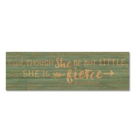 """Running 12.5"""" X 4"""" Printed Bamboo Removable Wall Tile - She Is Fierce"""