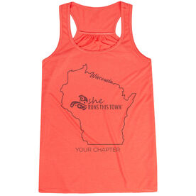 Flowy Racerback Tank Top - She Runs This Town Wisconsin Runner