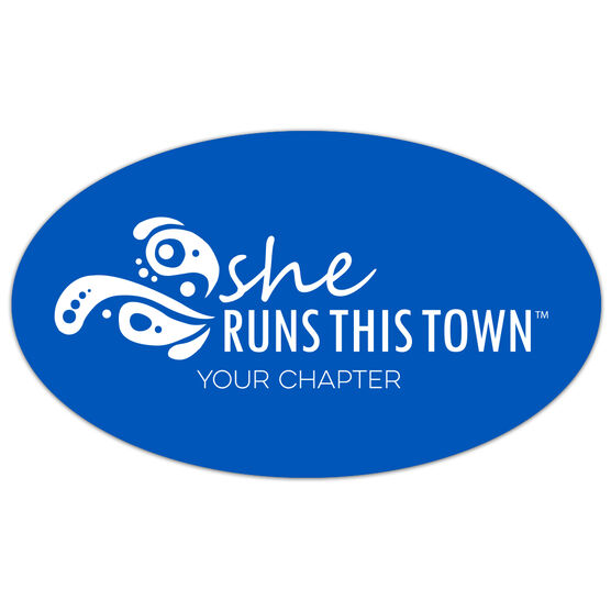 Running Oval Car Magnet - She Runs This Town Logo (Custom Chapter)
