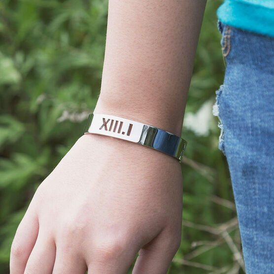 13.1 Half Marathon Roman Numeral Cuff Bracelet