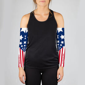 Running Printed Arm Sleeves - She Runs This Town RWB
