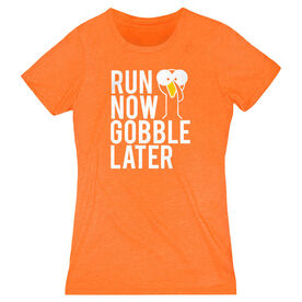 Women's Everyday Runners Tee - Run Now Gobble Later (Bold)