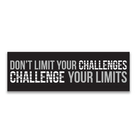 "Running 12.5"" X 4"" Removable Wall Tile - Don't Limit Your Challenges, Challenge Your Limits"