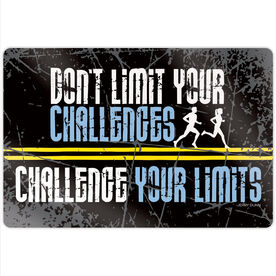 """Running 18"""" X 12"""" Aluminum Room Sign - Don't Limit Your Challenges"""