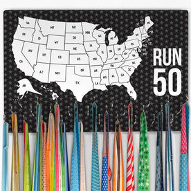 Running Large Hooked on Medals Hanger - Run 50