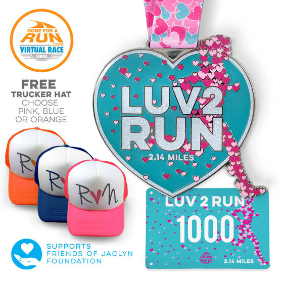 Virtual Race - Luv 2 Run 2.14 Miles (2018)