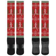Running Printed Knee-High Socks - Christmas Knit (Girl)