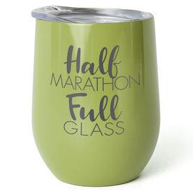 Running Stainless Wine Tumbler - Half Marathon Full Glass