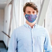 Running Face Mask - 13.1 Math Miles Tie-Dye