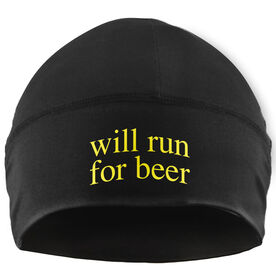 Run Technology Beanie Performance Hat - Will Run For Beer