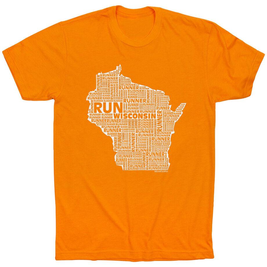 Running Short Sleeve T-Shirt - Wisconsin State Runner