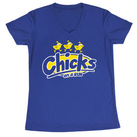 Women's Running Short Sleeve Tech Tee Chicks On A Run