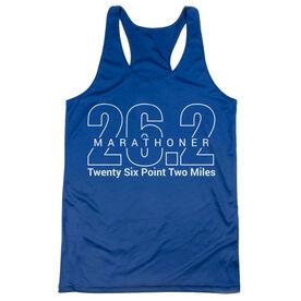 Women's Racerback Performance Tank Top - Marathoner 26.2 Miles