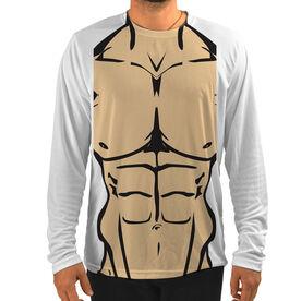 Men's Running Customized Long Sleeve Tech Tee Muscle Man
