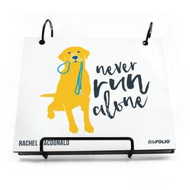 BibFOLIO® Race Bib Album - Never Run Alone