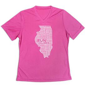Women's Short Sleeve Tech Tee - Illinois State Runner