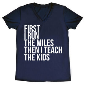 Women's Running Short Sleeve Tech Tee - Then I Teach The Kids