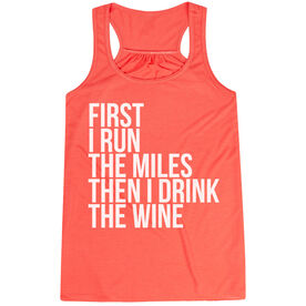 Flowy Racerback Tank Top - Then I Drink The Wine