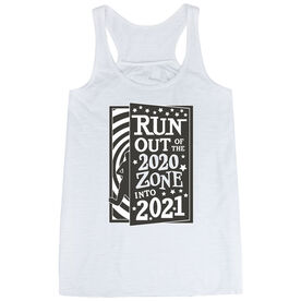 Flowy Racerback Tank Top - Run Out Of The 2020 Zone Into 2021