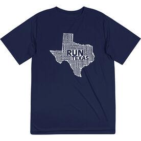 Men's Running Short Sleeve Tech Tee - Texas State Runner