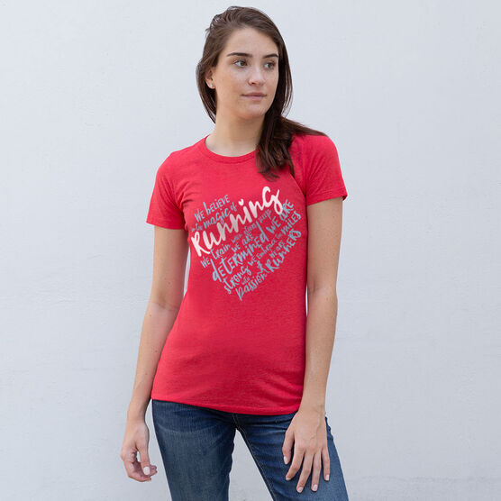 Women's Everyday Runners Tee - Live Love Run Heart