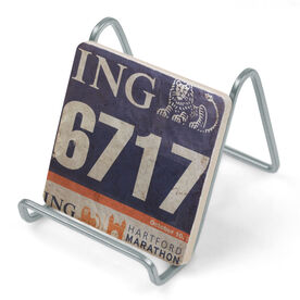 Running Stone Coaster - Your Race Bib on Your Coaster BibCOASTER