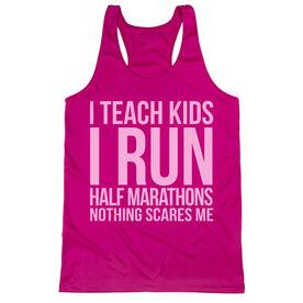 Women's Racerback Performance Tank Top - I Teach Kids I Run Half Marathons