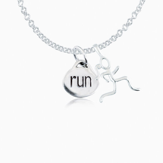 Sterling Silver Oval Run Necklace