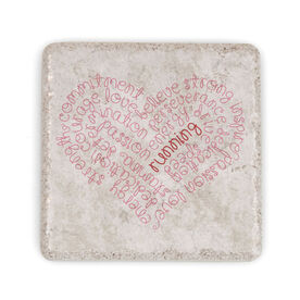 Running Stone Coaster Inspiration Heart