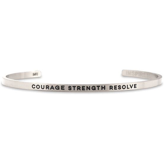 InspireME Cuff Bracelet - Courage Strength Resolve