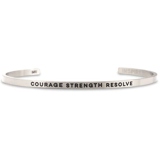 InspireME Cuff Bracelet - Courage Strength Resolve