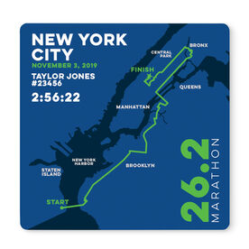 """Running 12"""" X 12"""" Removable Wall Tile - Personalized New York City Map"""