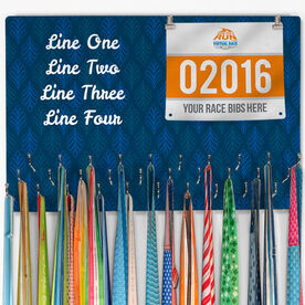 Running Large Hooked on Medals and Bib Hanger - Customize Me Quote Script