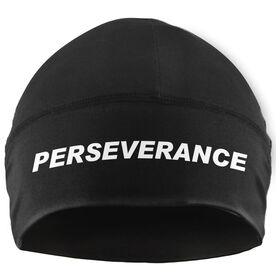 Run Technology Beanie Performance Hat - Perseverance (White Lettering)