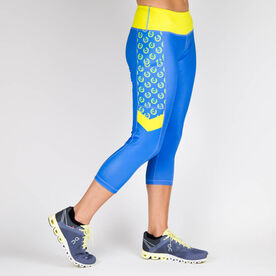 Running Performance Capris - Run 26.2 Wreath