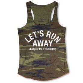 Running Camouflage Racerback Tank Top - Let's Run Away