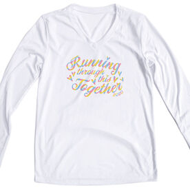 Women's Long Sleeve Tech Tee -  Running Through This Together 2020