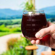 Running Stemless Wine Glass Runner's Measurements