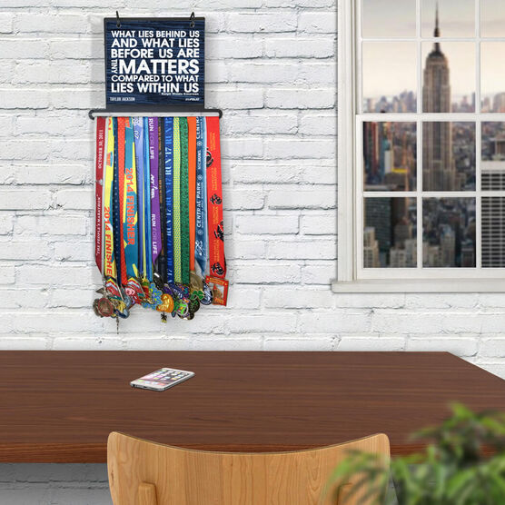 BibFOLIO+™ Race Bib and Medal Display - What Lies Behind Us Rustic