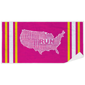Running Premium Beach Towel - USA Runner