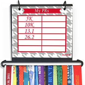 BibFOLIO+™ Race Bib and Medal Display Dry Erase My PRs Houndstooth