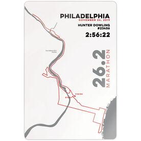"""Running 18"""" X 12"""" Wall Art - Philadelphia 26.2 Route"""