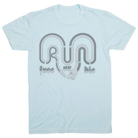 Running Short Sleeve T-Shirt - Run Free Or Die Snake