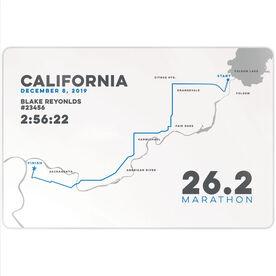 "Running 18"" X 12"" Wall Art - California 26.2 Route"
