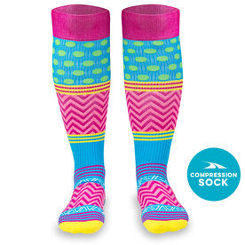 Crazy for Color Compression Knee Socks